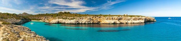 Mallorka, Cala Magraner, панорама Стоковая Фотография RF