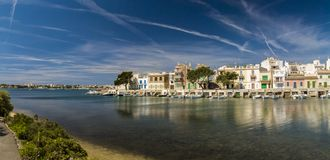 Mallorka, Porto Colom, Panorama Stock Photo