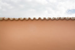 Mallorquin tiled roof detail Royalty Free Stock Photo