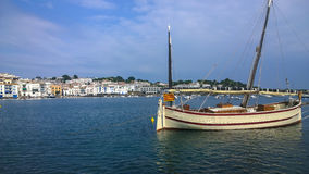 Mallorquina Fisherman's boat at Cadaques Royalty Free Stock Photography