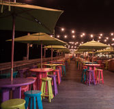 Mallory η τετραγωνική Key West τη νύχτα Στοκ Εικόνες