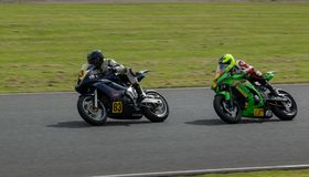 Mallory Park Motorcycle Racing fotografia de stock royalty free