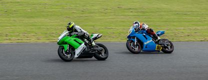Mallory Park Motorcycle Racing royalty free stock image