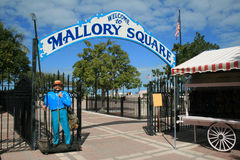 Mallory Square, Key West, Florida. The entrance to the famed Mallory Square in Key West, Florida where residents and visitors gather each evening to watch Stock Images