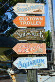 Mallory Square, Key West, Florida. Colorful signs at the entrance of Mallory Square, Kew West, Florida, USA Royalty Free Stock Photos