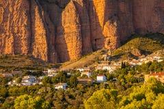 Mallos de Riglos à Huesca, Aragon photographie stock libre de droits