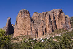 Mallos de Riglos. In Huesca, Spain Stock Images