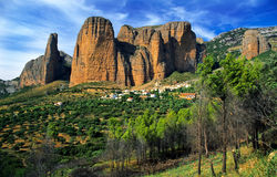 Mallos de Riglos. View of Mallos de Riglos, in Huesca, Spain Stock Photography