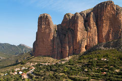 Mallos de Riglos. In Aragon, Spain Stock Images