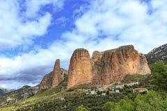 Mallos de Riglos, Espagne photos libres de droits