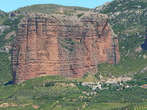 Mallos de Riglos, Huesca ( Spain ). View of Mallos de Riglos, in Huesca, Spain Royalty Free Stock Photo