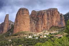 Mallos de Riglos, Spain. In Europe Stock Photos