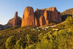 Mallos De Riglos w Huesca, Aragon Zdjęcie Stock