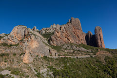 Mallos of Riglos. Riglos, Huesca, Spain Stock Image