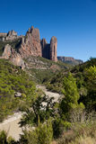 Mallos of Riglos. Riglos, Huesca, Spain Royalty Free Stock Images