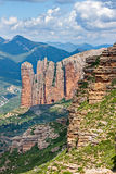 Mallos of Riglos in Spain. Mallos of Riglos in Huesca, Spain Royalty Free Stock Photos