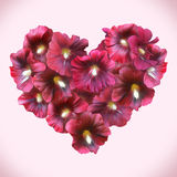 Mallow Floral Heart for Valentine day. Love symbol Royalty Free Stock Image