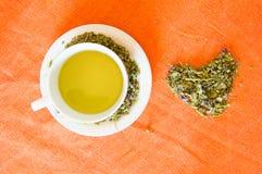 Mallow herbal tea cup Stock Photos