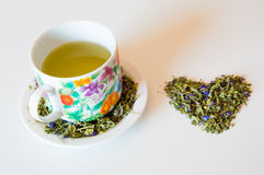 Mallow herbal tea cup Stock Photography