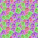 Mallow, malva. Seamless pattern texture of flowers. Floral   Royalty Free Stock Images