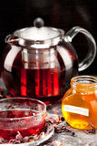 Mallow tea in glass Royalty Free Stock Images