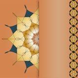 Mallram för kort, inbjudningar, baner på en beige backgr Royaltyfri Bild