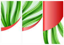 Mallreklamblad eller inbjudan för vektor abstrakt Arkivfoto