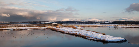Malltreath Views. Views around Malltreath Pools and Snowdonia National Park in winter Royalty Free Stock Photography