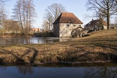 The Mallumsche watermill. Near Eibergen in the Dutch region Achterhoek Royalty Free Stock Photos