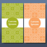 Malluppsättning av kort Dekorativa gränser och mönstrad bakgrund mandala Ram för hälsningkort eller bröllopinbjudan vektor Royaltyfri Foto