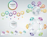 malluppsättning för 3D Infographics Affärspresentationsbegrepp vektor Arkivfoto