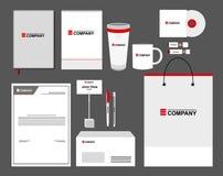 Malluppsättning för företags identitet Affärsbrevpappermodell med logo Brännmärka design Arkivfoton