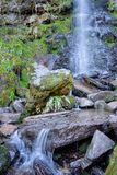 Mallyan Spout waterfall in Goathland in the North York Moors royalty free stock photo