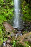 Mallyan Spout Waterfall, Great Britain. Mallyan Spout waterfall at Goathland in the North York Moors National Park flows into West Beck which has created a Stock Photography