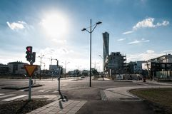 Malmö miasta ulicy obrazy royalty free