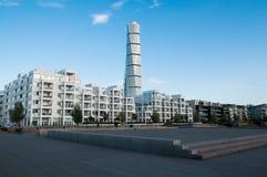 Malmö siedziby kompleks z kręcenie półpostacią fotografia royalty free