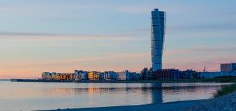 Malmö地平线全景 免版税库存图片