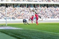 Malmö FF  vs Östersuns FK. Fotball / Soccer game between Malmö FF MFF and Östersuns FK 14th may 2017 Stock Images