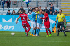 Malmö FF  vs Östersuns FK. Fotball / Soccer game between Malmö FF MFF and Östersuns FK 14th may 2017 Stock Photo