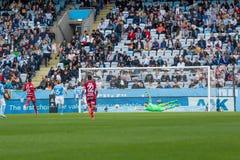 Malmö FF  vs Östersuns FK. Fotball / Soccer game between Malmö FF MFF and Östersuns FK 14th may 2017 Royalty Free Stock Photo