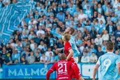 Malmö FF vs Östersuns FK. Fotball / Soccer game between Malmö FF MFF and Östersuns FK 14th may 2017 Royalty Free Stock Image