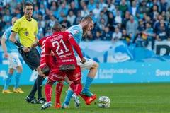 Malmö FF vs Östersuns FK. Fotball / Soccer game between Malmö FF MFF and Östersuns FK 14th may 2017 Royalty Free Stock Photos