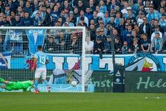 Malmö FF vs Östersuns FK. Fotball / Soccer game between Malmö FF MFF and Östersuns FK 14th may 2017 Royalty Free Stock Photography