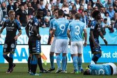 Malmö FF vs IFK Göteborg. Allsvenskan game 2017-08-27 in Malm Royalty Free Stock Photo