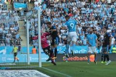 Malmö FF vs IFK Göteborg. Allsvenskan game 2017-08-27 in Malm Stock Images