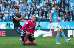 Malmö FF vs IFK Göteborg. Allsvenskan game 2017-08-27 in Malm Royalty Free Stock Photography