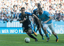 Malmö FF vs IFK Göteborg. Allsvenskan game 2017-08-27 in Malm Royalty Free Stock Image
