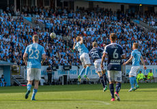 Malmö FF vs IFK Norrköping. Swedish Premier Legue Allsvenskan Fotball Soccer Result 1 - 2 Goals: Malmö FF : Rosenberg. IFK Norrköping Sjölund, Holmberg Stock Photography