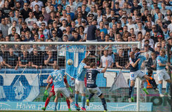 Malmö FF vs IFK Norrköping. Swedish Premier Legue Allsvenskan Fotball Soccer Result 1 - 2 Goals: Malmö FF : Rosenberg. IFK Norrköping Sjölund, Holmberg Stock Image