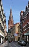 Malmö, Kalendegatan. Stockfoto